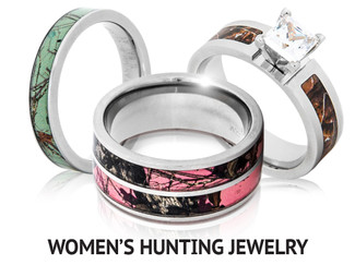 womens hunting jewelry - Camo Wedding Rings For Him