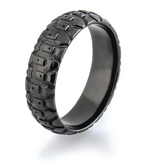 dirt bike rings - Mud Tire Wedding Rings