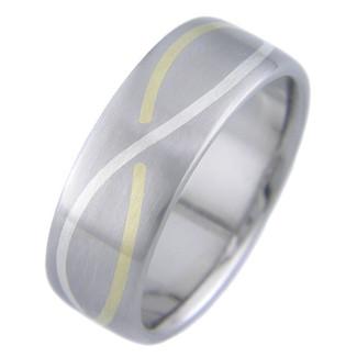 Gold Titanium Rings