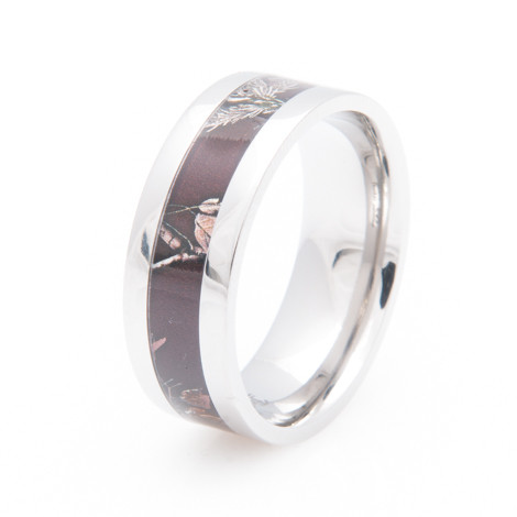 womens titanium realtree ap maroon camo wedding ring - Realtree Camo Wedding Rings