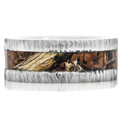 Tree Bark Camo Ring Unique Titanium Rings Amp More