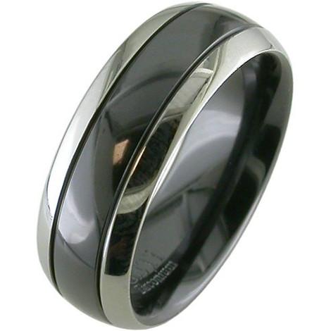 Two-Tone Zirconium Ring