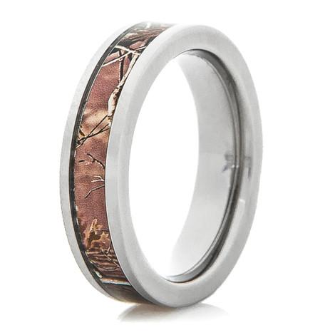 Women's Titanium Camo Ring