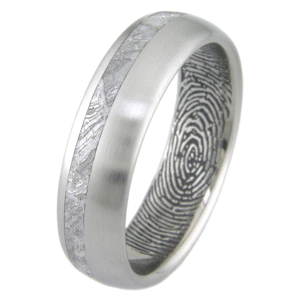 Fingerprint Mens Wedding Ring