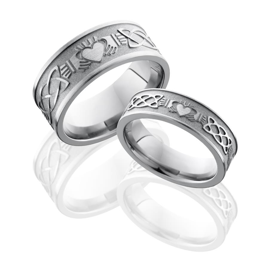 Matching Claddagh Titanium Rings