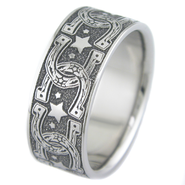 horseshoe wedding ring - Horseshoe Wedding Rings