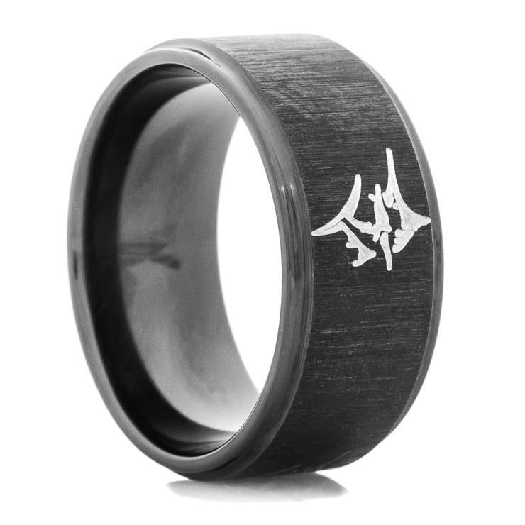 mens black marlin wedding ring mens black marlin wedding - Mens Black Wedding Ring