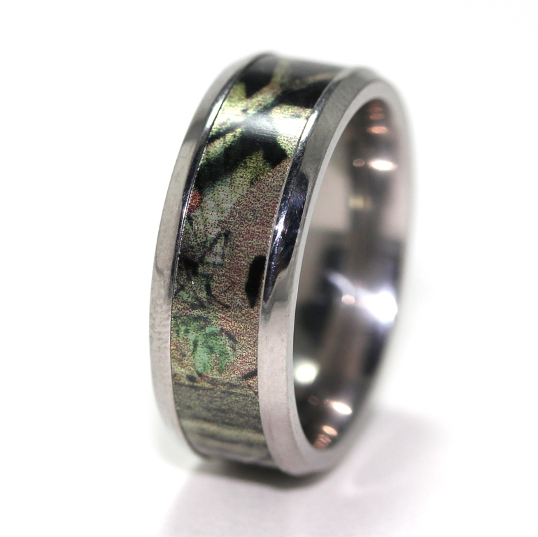mens titanium mossy oak break up infinity camo ring - Mossy Oak Wedding Rings