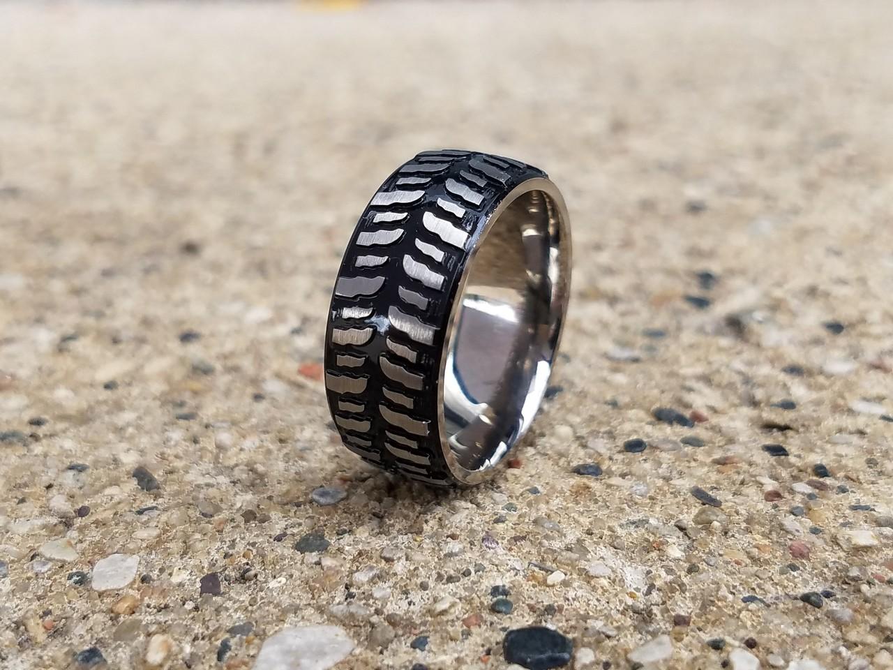 s black titanium mud bogger ring titanium buzz