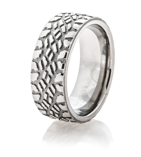 s titanium goodyear mud tire ring titanium buzz