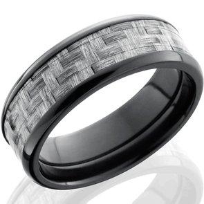 Black Zirconium & Silver Texalium Ring