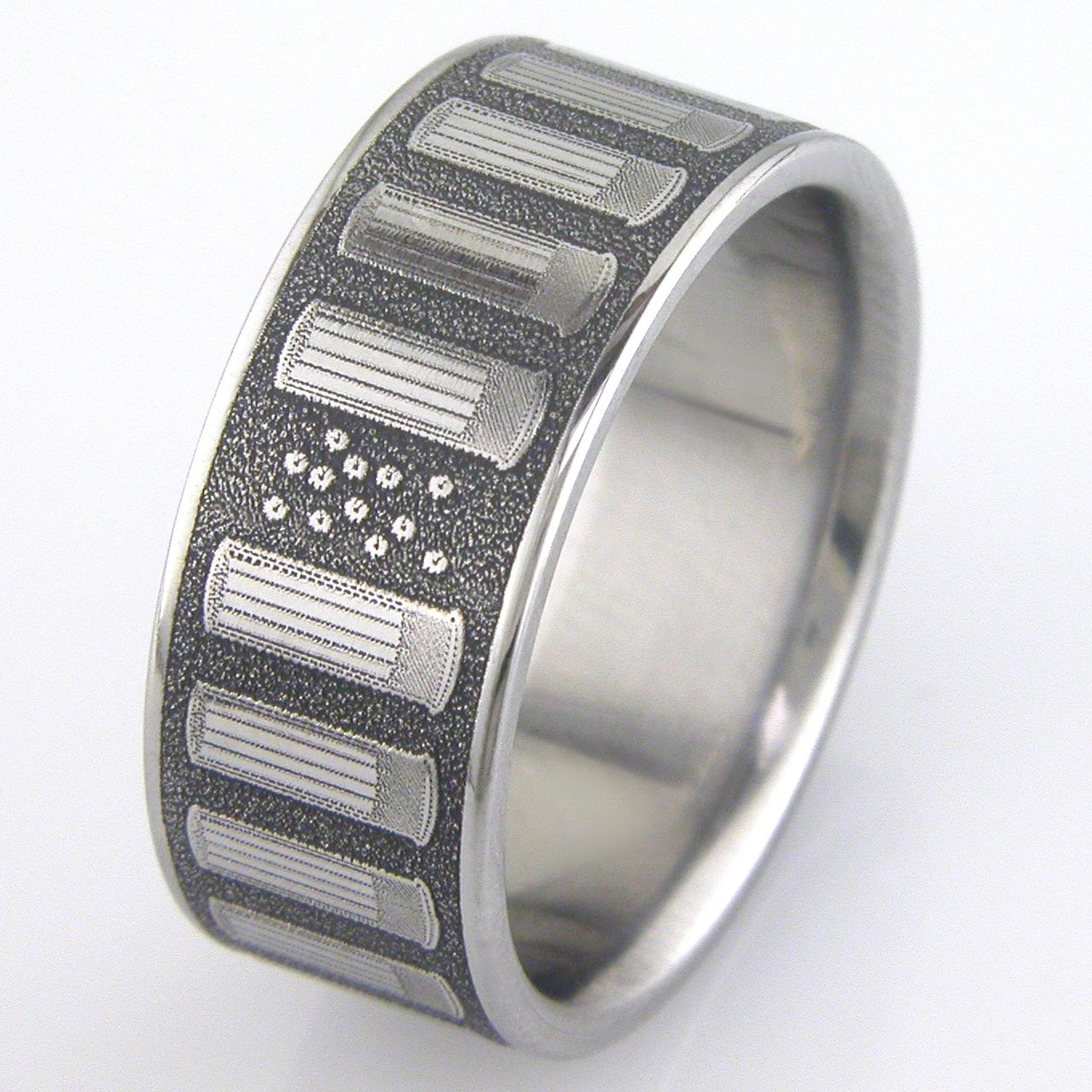 Shotgun Shell Ring Unique Titanium Rings More TitaniumBuzz