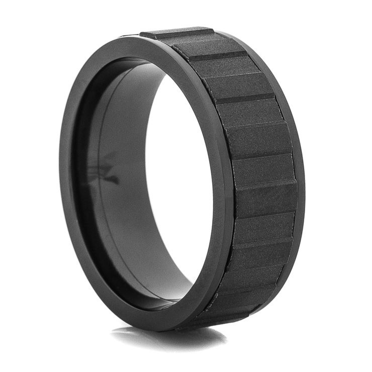 Matte Black Spinner Rings Black Spinner Wedding Ring Titanium Buzz