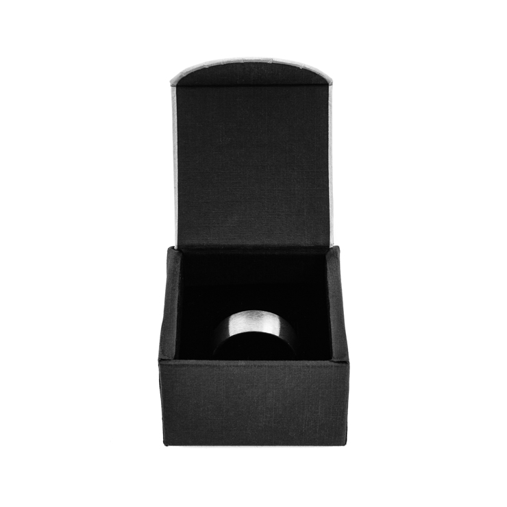 mens grooved edge cobalt wedding ring with rose gold inlay - Cobalt Wedding Rings