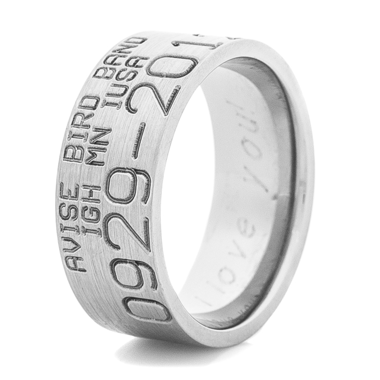 mens titanium original style duck band wedding ring - Duck Band Wedding Rings