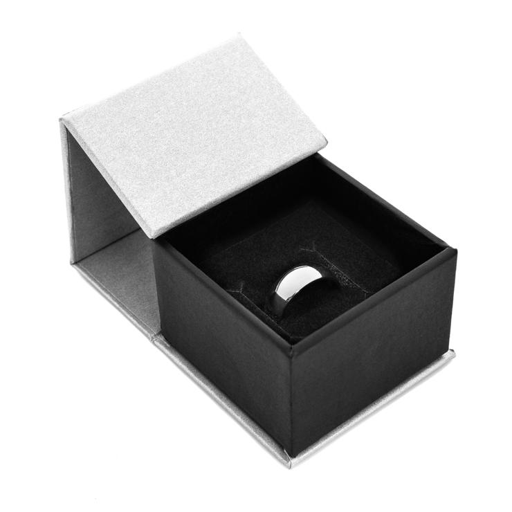 Men's Laser Carved Titanium All Around Hunting Wedding Ring