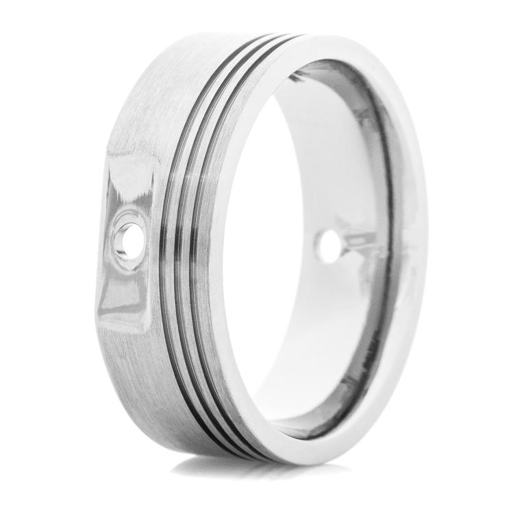 Mens Titanium Piston Head Ring
