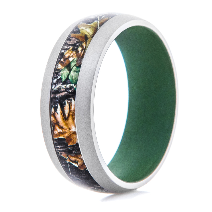Men's Titanium Mossy Oak Camo Band with Highland Green Interior