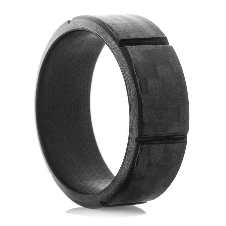 Men's Segmented Carbon Fiber Ring