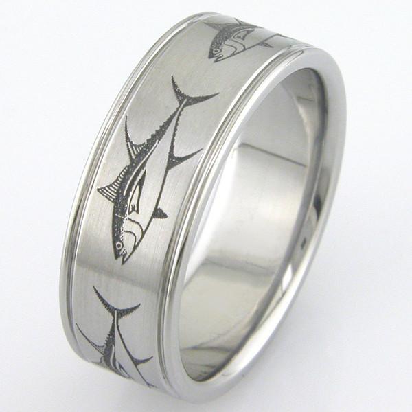 The Big Fish Ring Unique Titanium Rings More