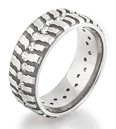 Womens Titanium Diamond Mud Bogger Ring