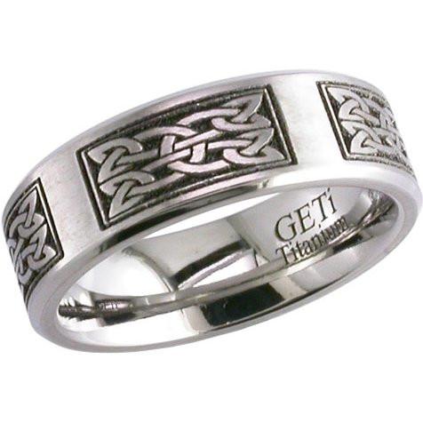 laser engraved celtic knot ring - Irish Wedding Rings