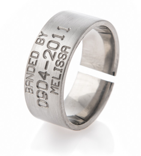 mens titanium split back duck band wedding ring