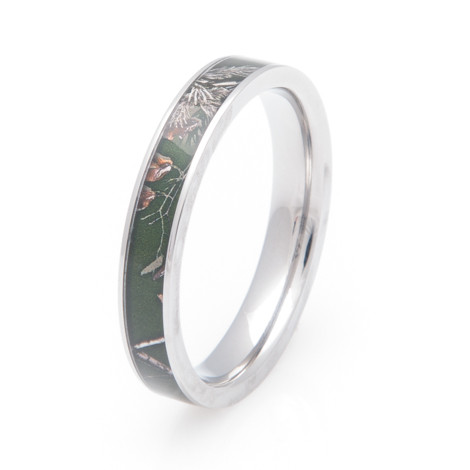 womens titanium realtree ap green camo wedding ring - Realtree Wedding Rings