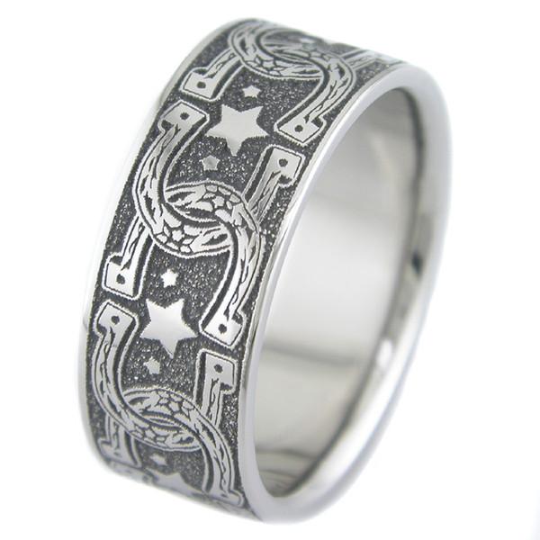 horse shoe wedding ring unique titanium rings more titanium buzz - Horseshoe Wedding Rings