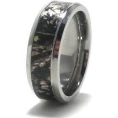 mens titanium mossy oak break up camo wedding ring - Mossy Oak Wedding Rings