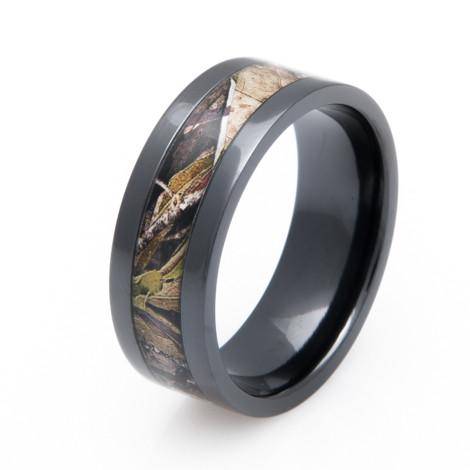 Mossy Oak Obsession Camo Ring Unique Titanium Rings More