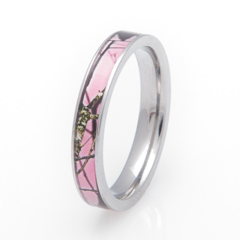 pink mossy oak breakup camo ring - Mossy Oak Wedding Rings