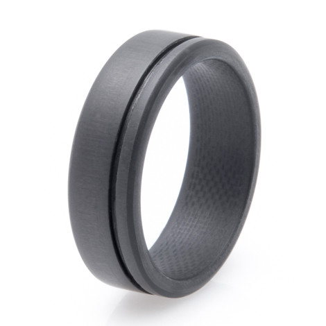 Men S Simplex Carbon Fiber Wedding Ring