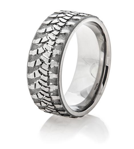 Men S Titanium Goodyear Wrangler Ring Titanium Buzz