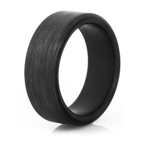 the sidewinder carbon fiber wedding ring - Carbon Fiber Wedding Rings