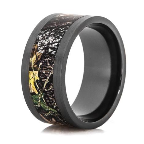 Men S Black Zirconium Mossy Oak Breakup Camo Ring