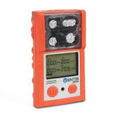 Ventis MX4 Multi-Gas Monitor,  LEL (Methane), O2, CO, H2S, Orange Overmold, Li-ion Battery, Desk Top Charger, Industrial Scientific VTS-L1231101101