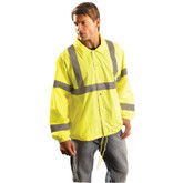 Premium Hi-Vis Yellow-Wind Breaker LUX-WBEC -OccuNomix