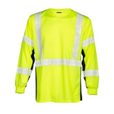ML Kishigo Black Series Long Sleeve Hi-Vis Lime Shirt Class 3 | Mfg# 9134