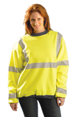 Occunomix Premium Wicking Crew Neck Sweatshirt, ANSI Class 3 Compliant, Mfg# LUX-SWT3