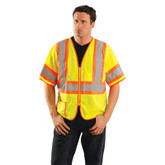 Occunomix Class 3 Classic Mesh Two-Tone Safety Vest Shirt, Hi-Viz Yellow, Mfg# LUX-HSCLC3Z
