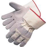 Durawear Leather Work Gloves, White Safety Cuff and Canvas Back | Mfg# 10-5050W