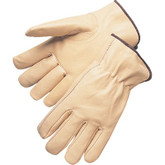 Durawear Top Grain Leather Drivers Glove, Keystone Thumb, Elastic Back, Mfg# 10-7401K