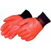 Durawear Fluorescent Orange PVC Coated Knit Wrist Glove, Foam-Insulated | 2521