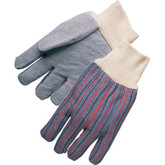 Durawear Leather Palm Knit Wrist Glove, Clute Pattern, Mfg# 10-5010