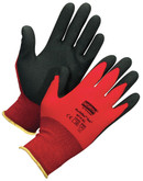 North by Honeywell NorthFlex Red™ NF11 Black Foamed PVC Palm Coated Gloves, 1 Pair/Pkg Mfg# NF11