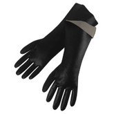 "Durawear 18"" Length Black PVC Coated Glove, Smooth Finish, Large, Mfg# 2238"