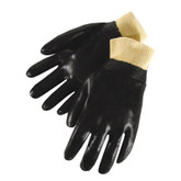 Durawear Black PVC Work Glove, Knit Wrist, Single Dipped, Smooth Finish, Part No. 2231