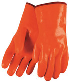 "Durawear Hi-Visibility Orange PVC Glove, 14"" Length, Fully Coated, Foam Insulated 