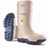 Dunlop White Purofort Thermo+ Full Safety Boots | Mfg# E662-143